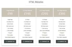 Helios Web Design Prices 2