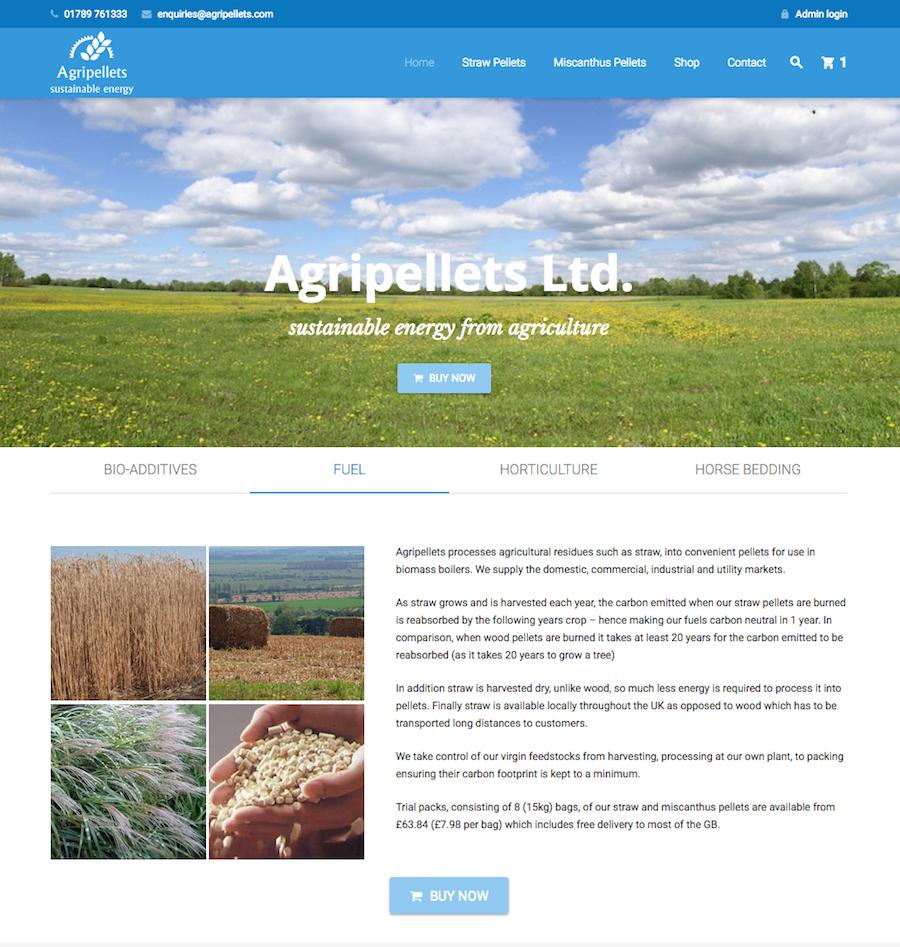 Agripellets - Straw & Miscanthus Biofuel Pellets - Helios Web Design