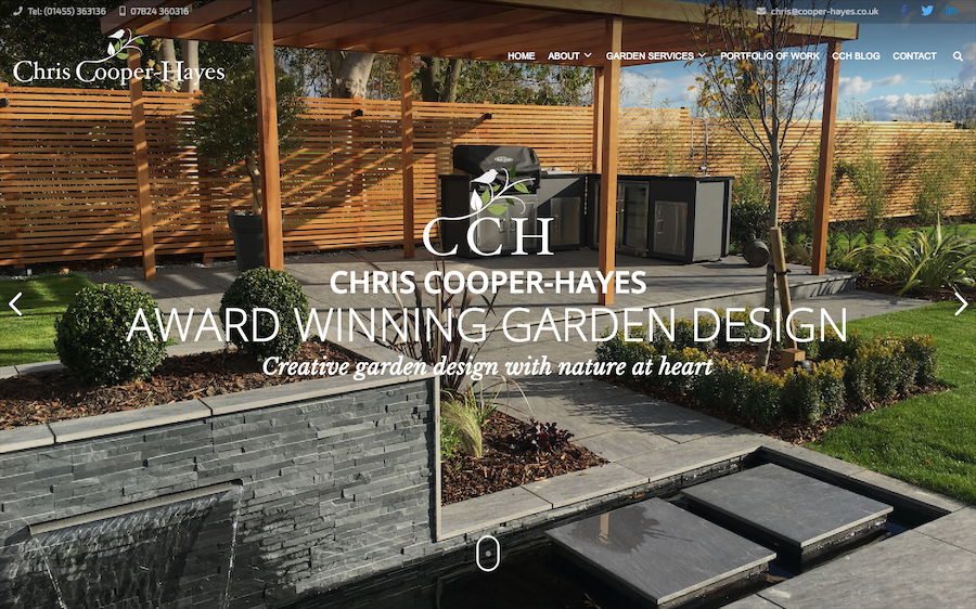 Chris Cooper Hayes Garden Design Website