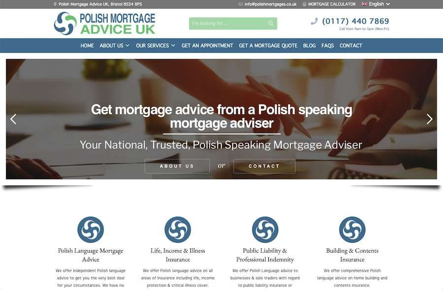 Polish Mortgage Advise UK - Independent Mortgage Adviser Website