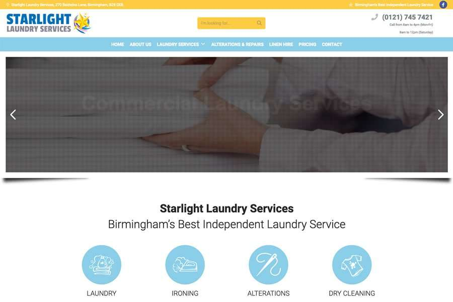 Starlight Laundry Services Wordpress Website