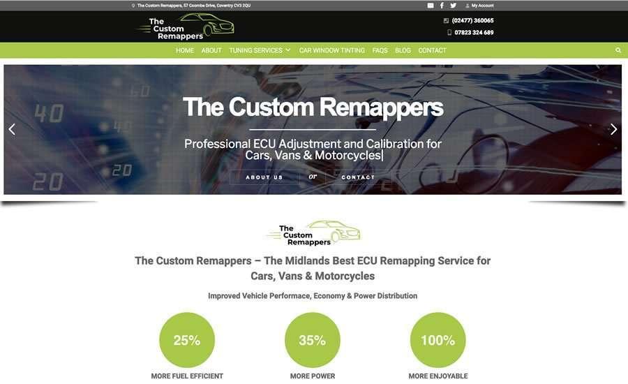 The Custom Remappers - ECU Remapping Specialists Cars, Vans, Bikes - Wordpress Website