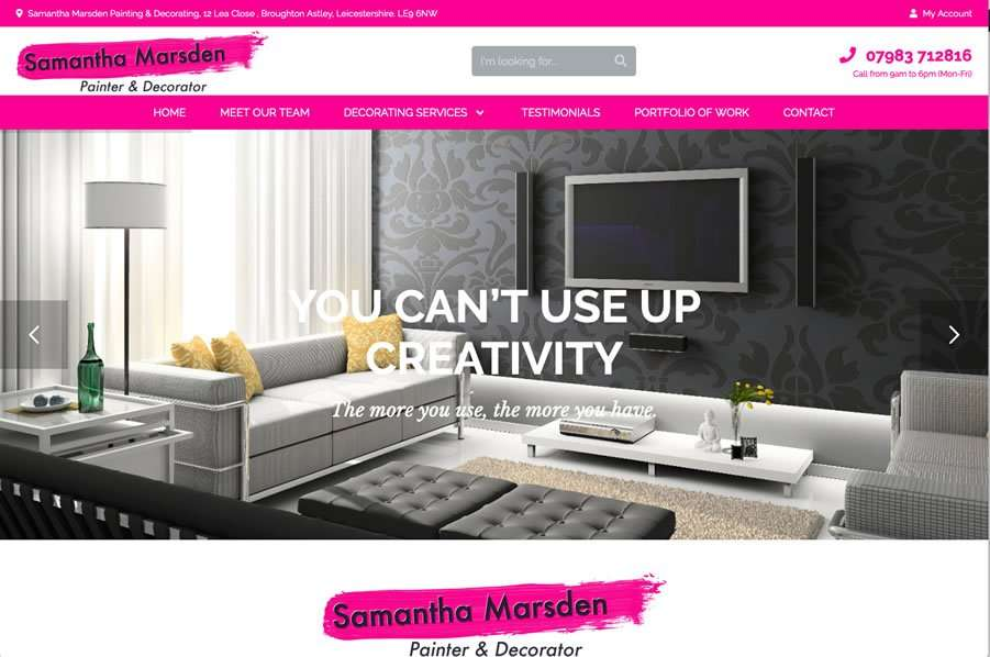 Samantha Marsden - Painter & Decorator Wordpress Website