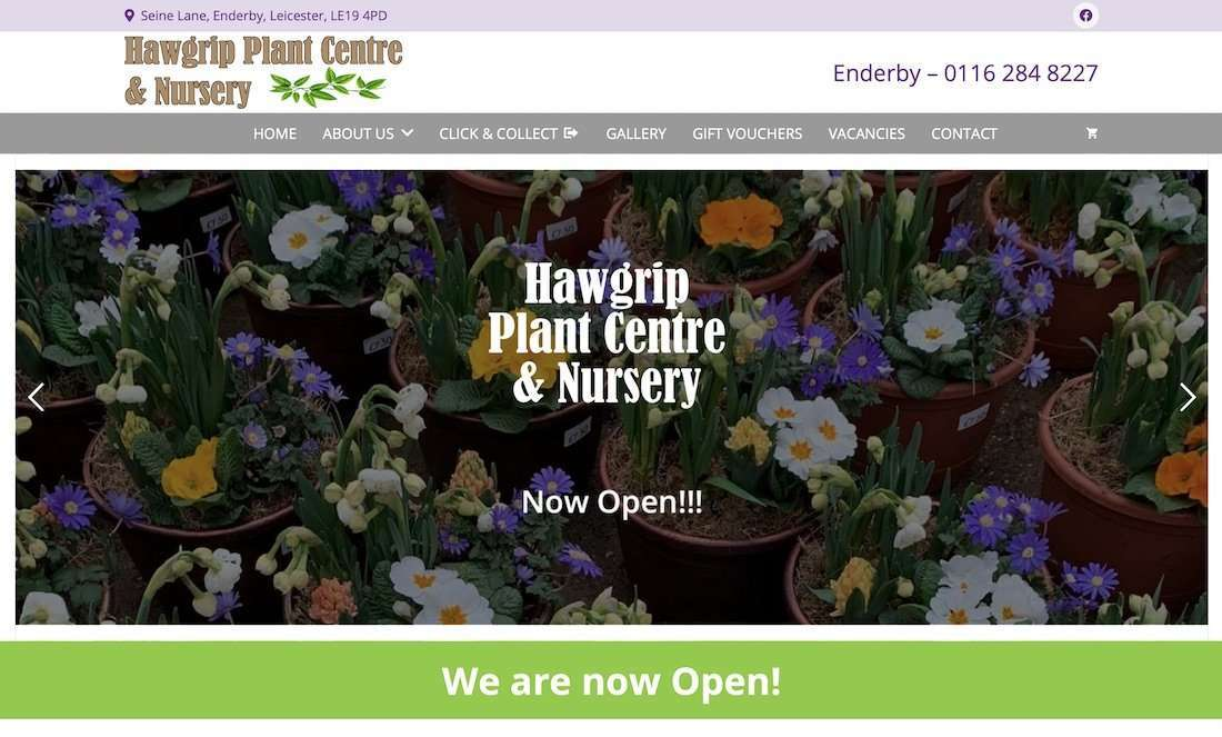 Hawgrip Plant Centre - E-Commerce Wordpress Website