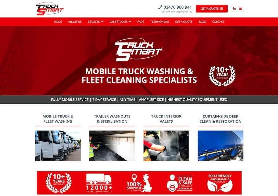 Truck Smart - Fleet Cleaning Wordpress Website