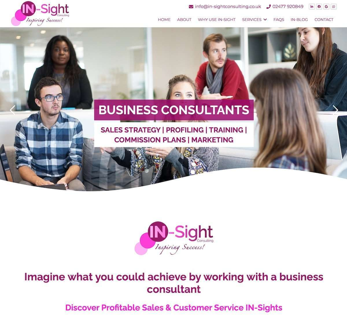 IN-Sight Consulting - Sales & Marketing Consultant Website