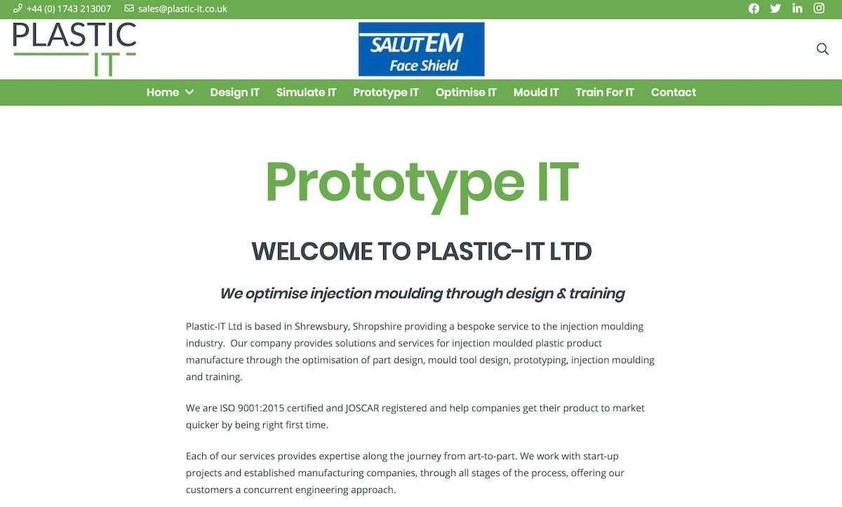Plastic-IT Injection Moulding Product Development Wordpress Website