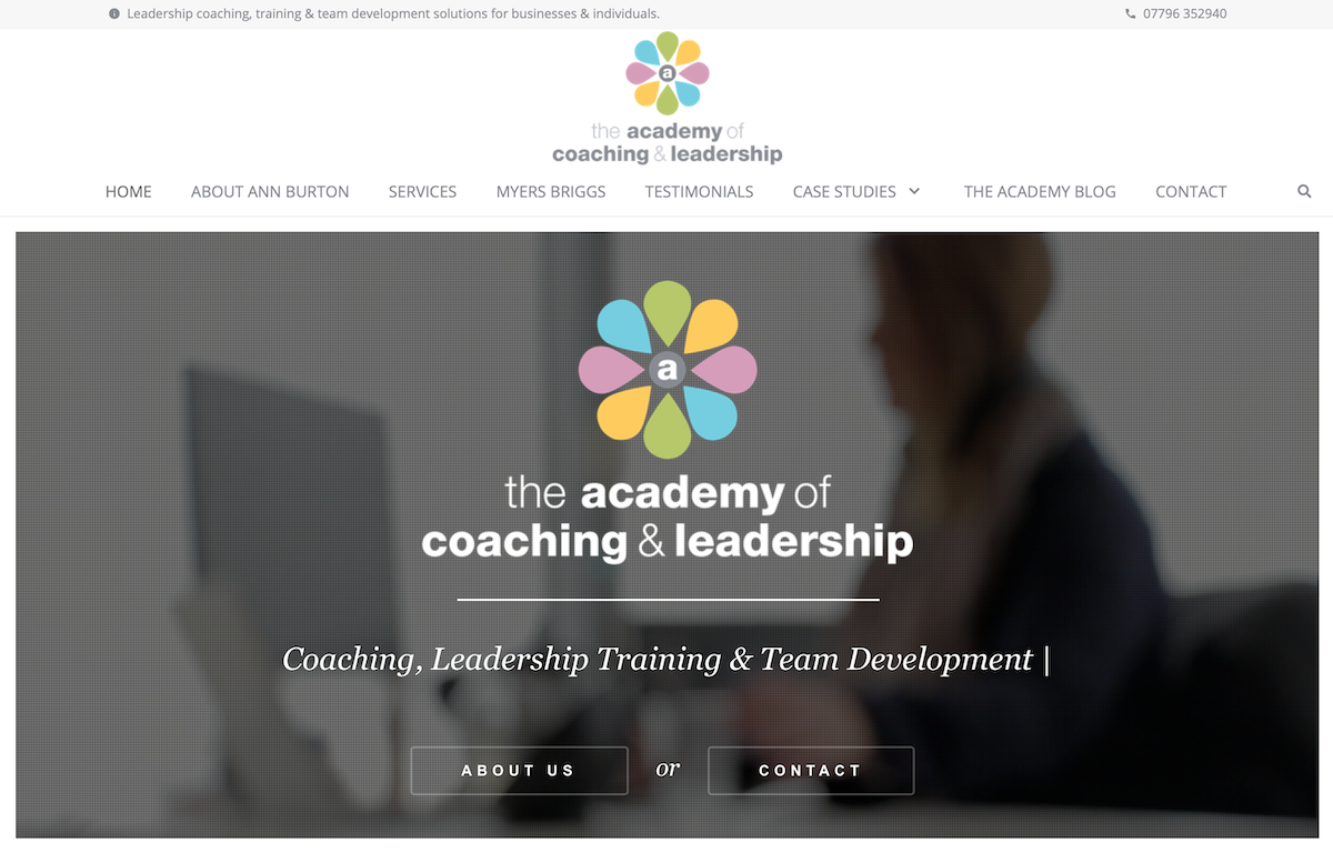 The Academy of Coaching & Leadership - Wordpress Website