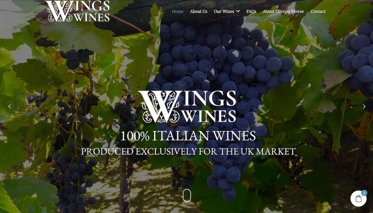 Wings Wines - Wine Imports Wordpress Website
