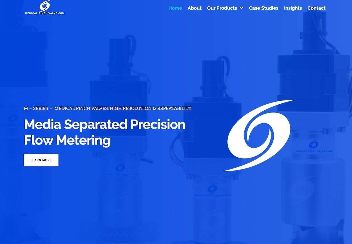 Medical Pinch Valve - Medical Equipment Wordpress Website